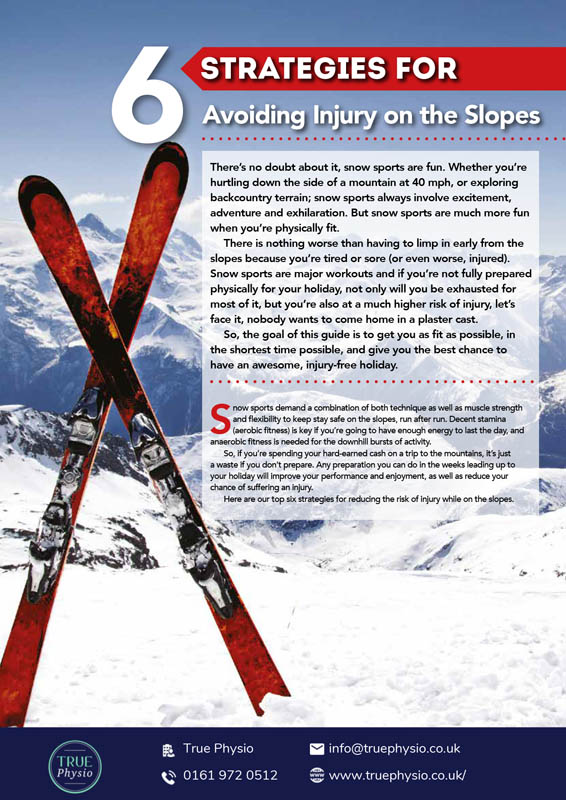 How to avoid pain on the slopes