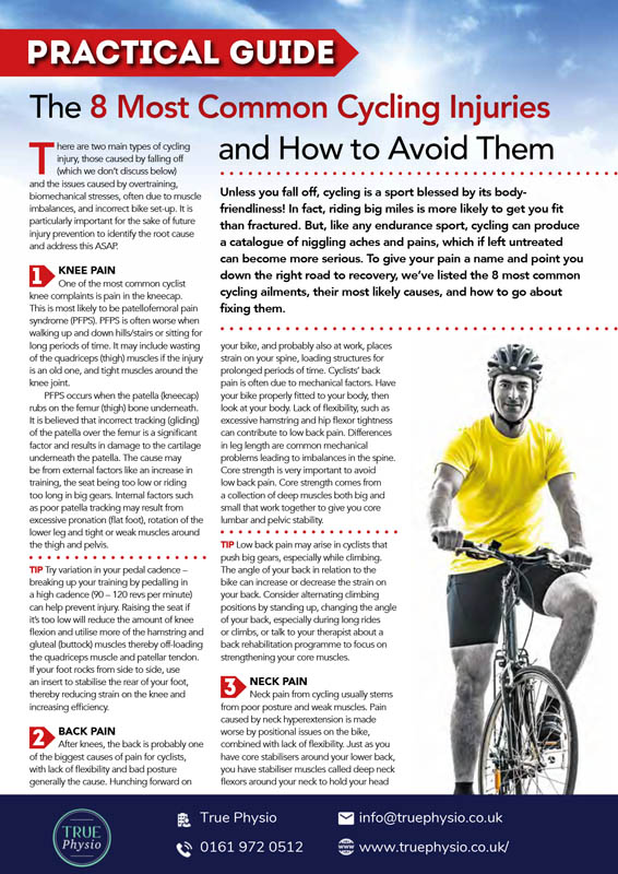 The key to avoiding cycling injuries